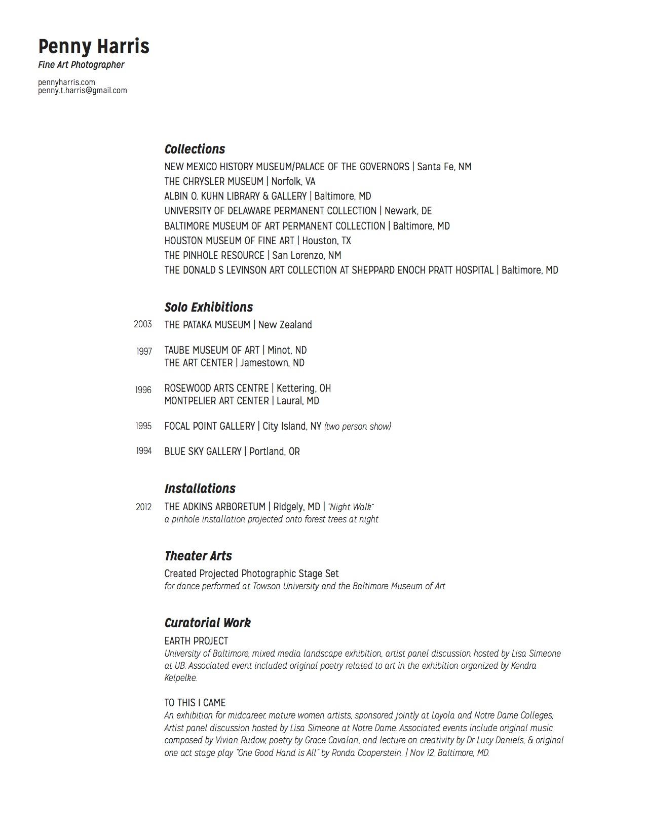 penny harris photography resume resume